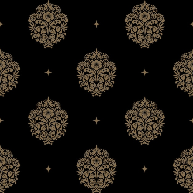 Victorian baroque seamless pattern. background Free Vector