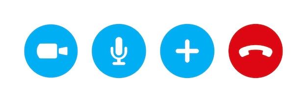Иконки видеозвонка. Premium векторы