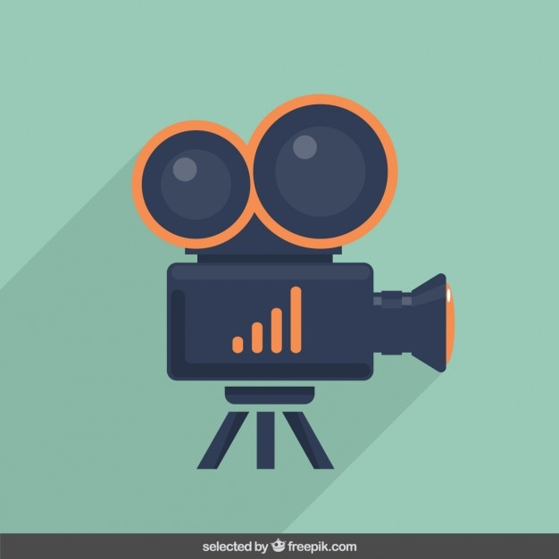 Video camera illustration Free Vector