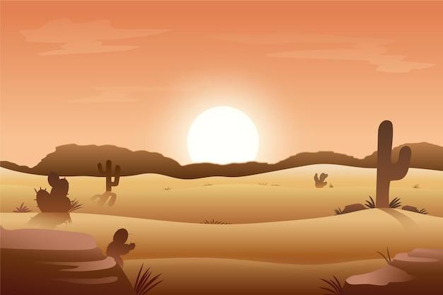 ビデオ会議の砂漠の風景 無料ベクター