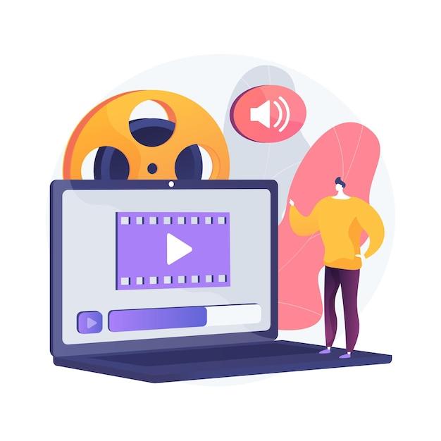 Иллюстрация абстрактной концепции дизайна видео Бесплатные векторы