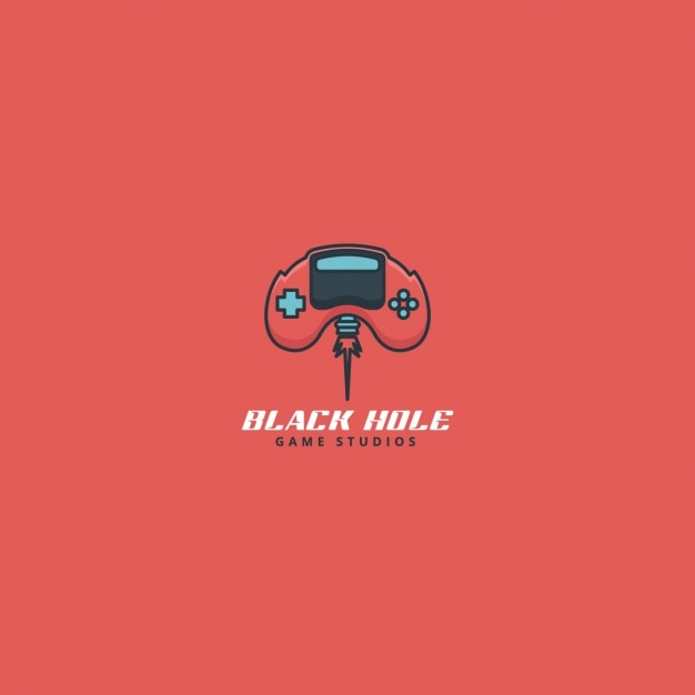 video game controller, red logo vector   free download