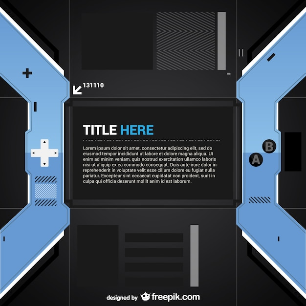 Video game controller template Vector | Free Download