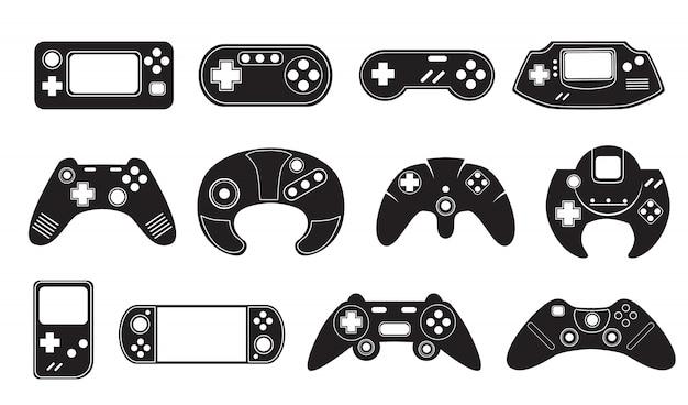 ビデオゲームコントローラセット 無料ベクター