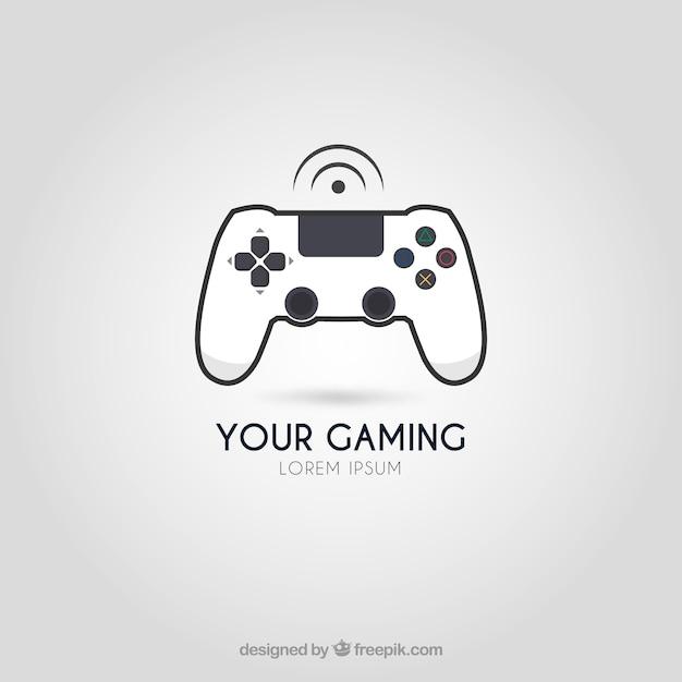 Шаблон логотипа видеоигры с современным стилем Premium векторы