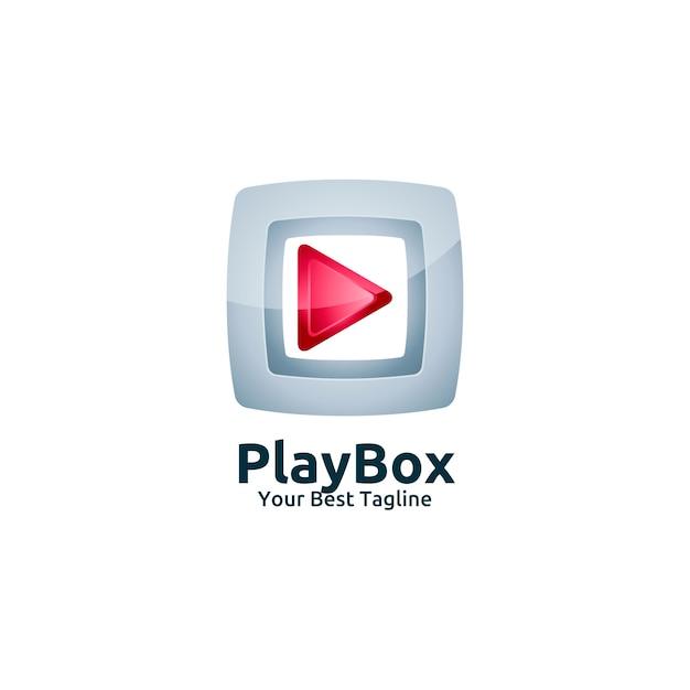 Video Media Play Box Logo Template Vector | Premium Download