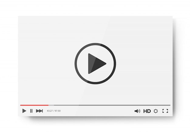 Video player bar template for your design for web site and app Premium Vector