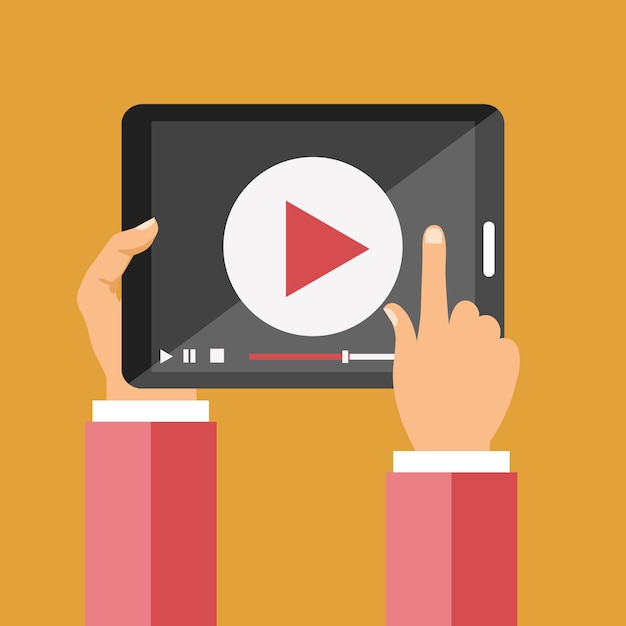 Video on tablet icon Vector | Premium Download
