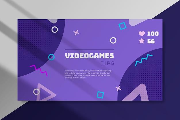 Концепция блога видеоигры Premium векторы