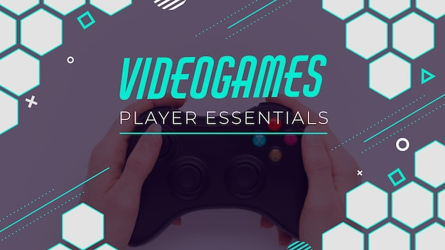 Videogame youtube thumbnail Free Vector
