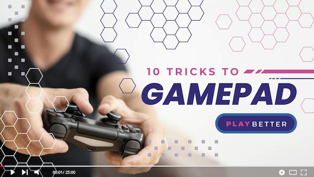 Videogame youtube thumbnail Free Vector