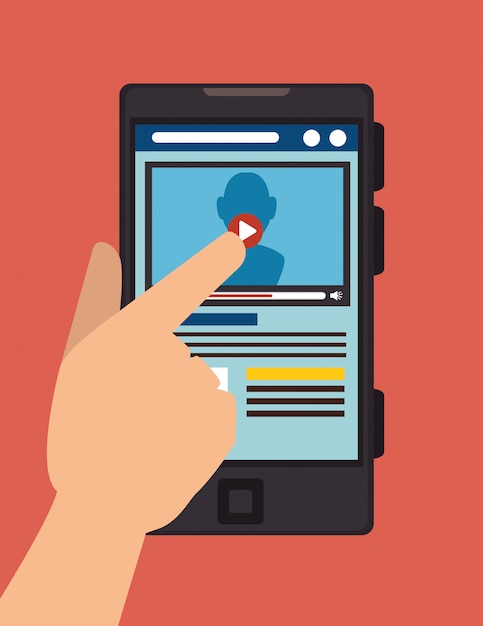 Videos and entertainment Premium Vector
