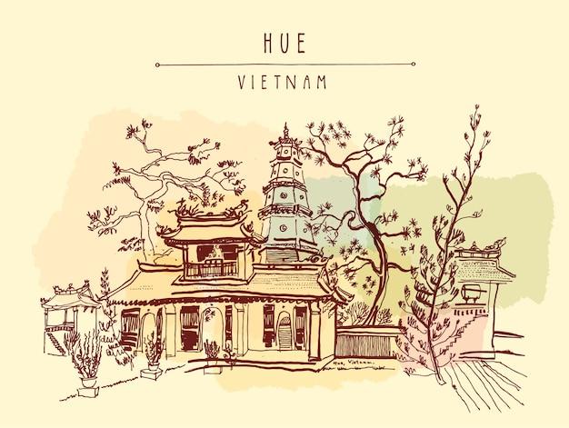Vietnam background design Free Vector
