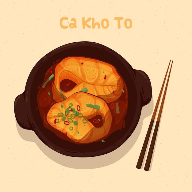 Vietnamese food Premium Vector