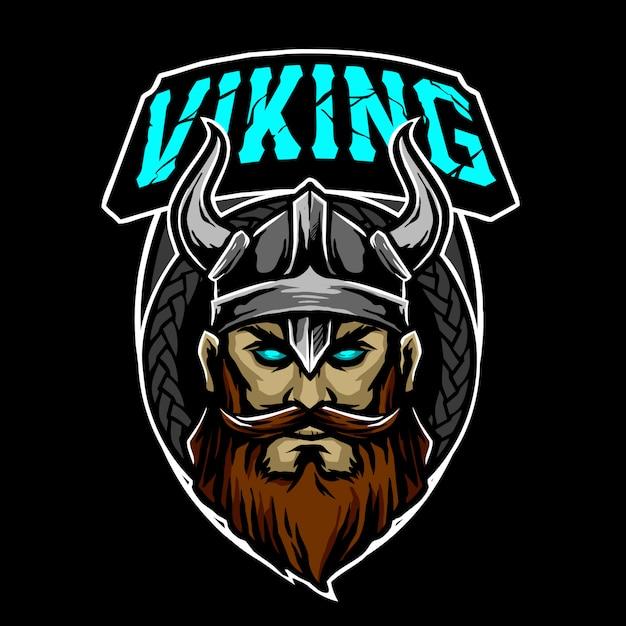 Viking fighter logo Premium Vector