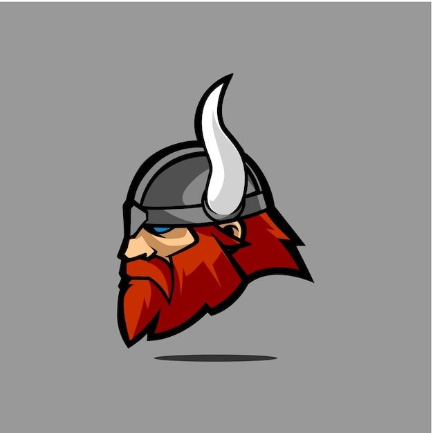 Viking head vector Vector | Premium Download