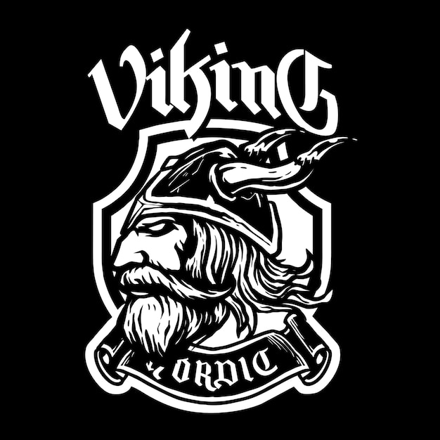 Viking head Premium Vector