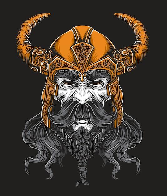Viking king vector Premium Vector
