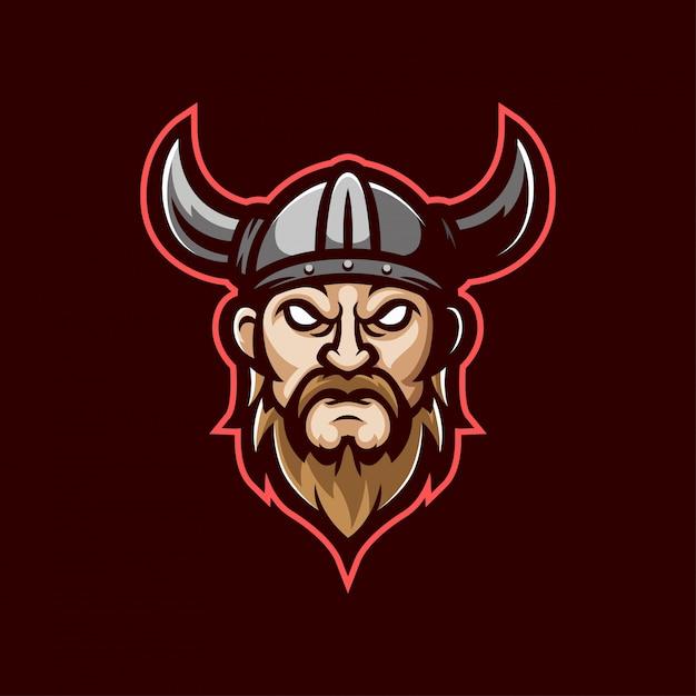 Viking mascot logo Premium Vector