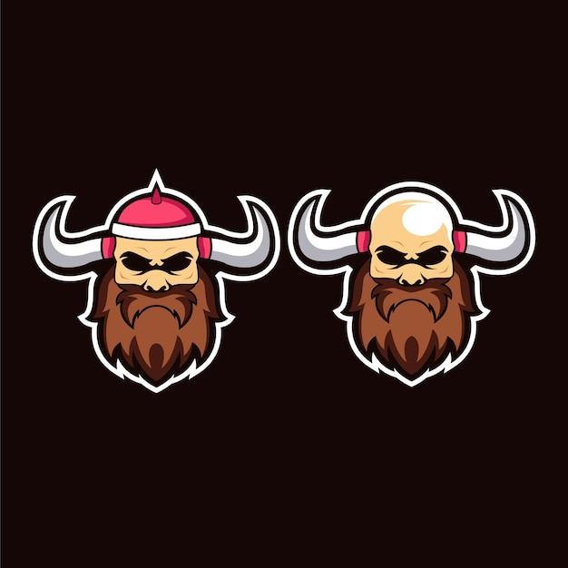 Viking mascot Premium Vector