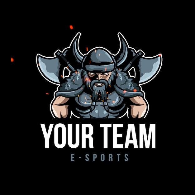 13cb2c39 Viking warrior sports gaming logo mascot Vector | Premium Download