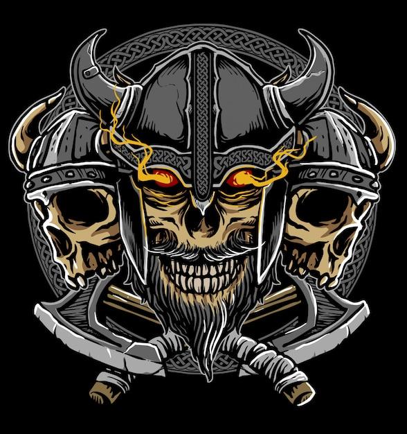 Viking warrior Premium Vector