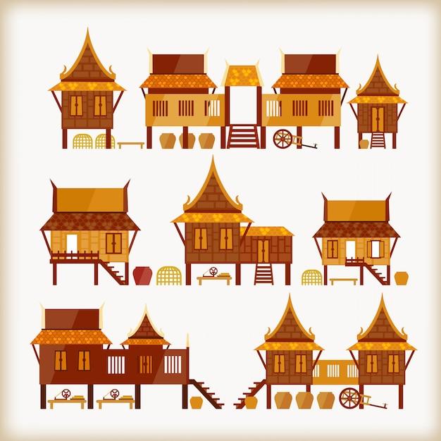 Villages in thailand Premium Vector