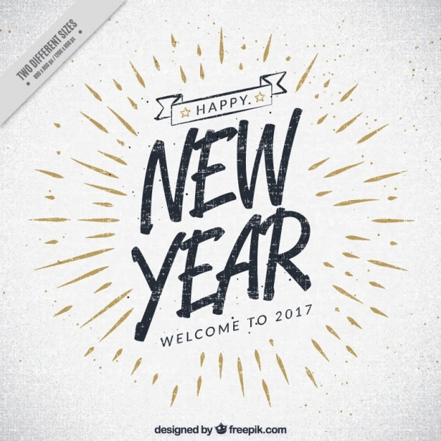 vintage 2017 new year background free vector