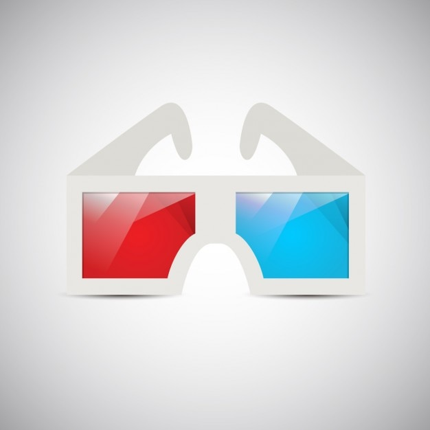 Vintage 3D Glasses Vector | Free Download