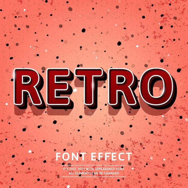 Vintage 3d retro title text effect Premium Vector