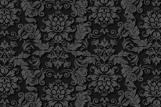 Vintage abstract ornamental flowers background Free Vector