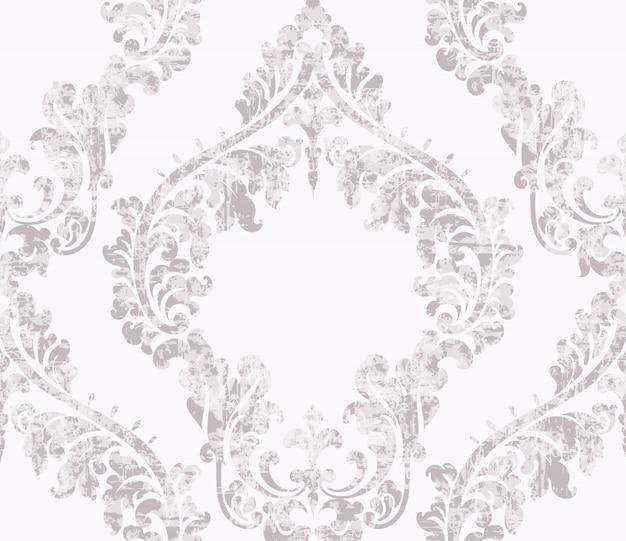 Vintage acanthus decor ornamented pattern Premium Vector