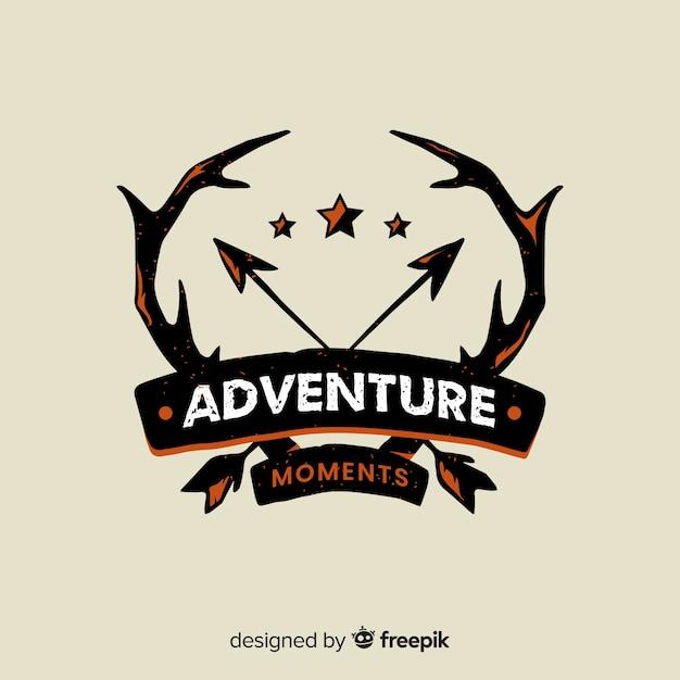 Vintage adventure log Free Vector