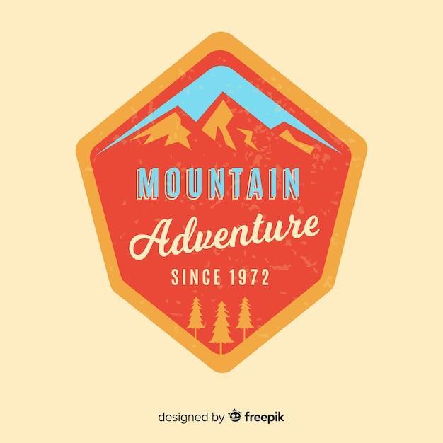 Vintage adventure logo background Free Vector