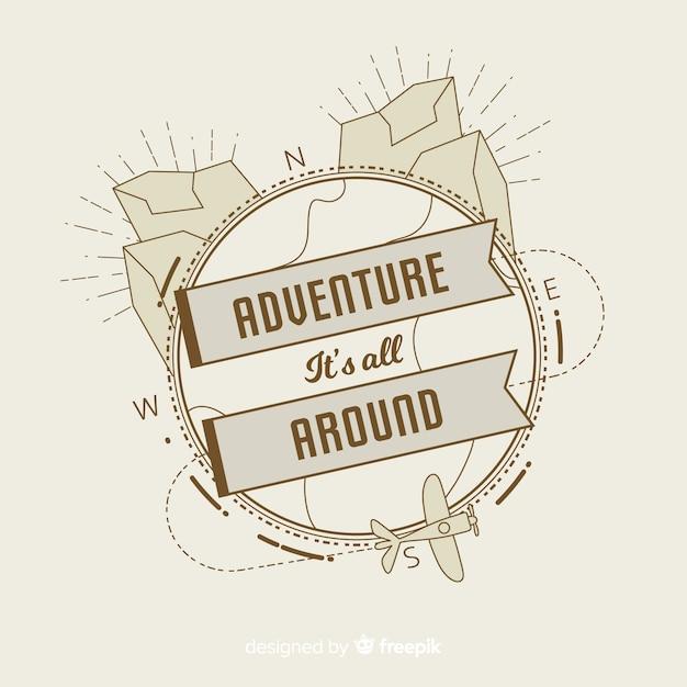Vintage adventure logo template Free Vector