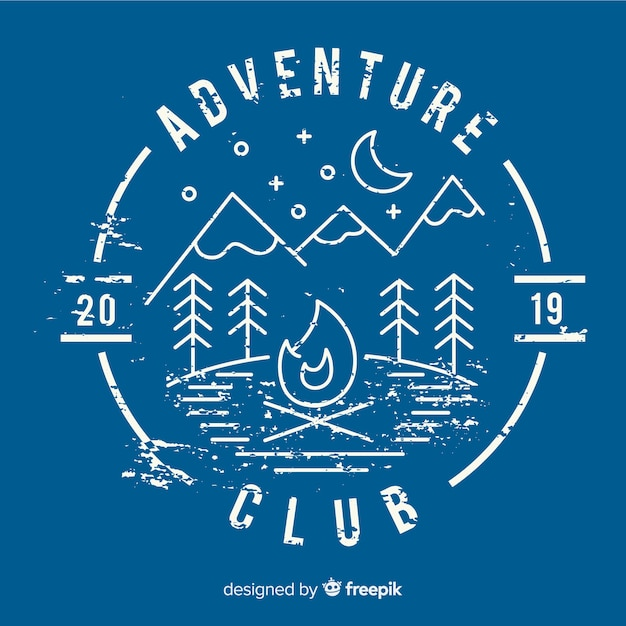 Vintage adventure logo template Free Vector
