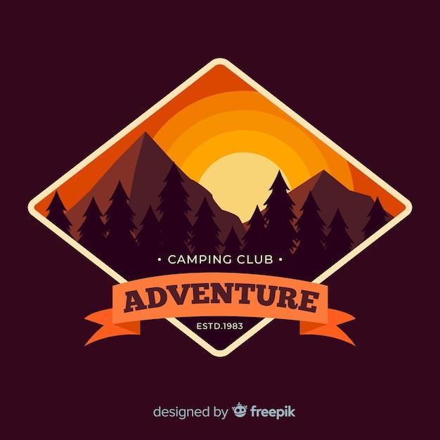 Vintage adventure logo Free Vector