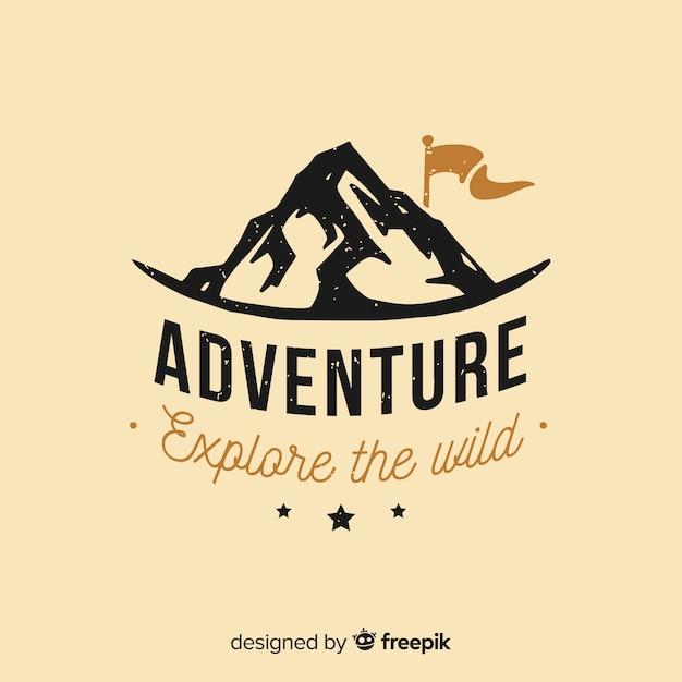 Vintage adventure logo Vector  Free Download
