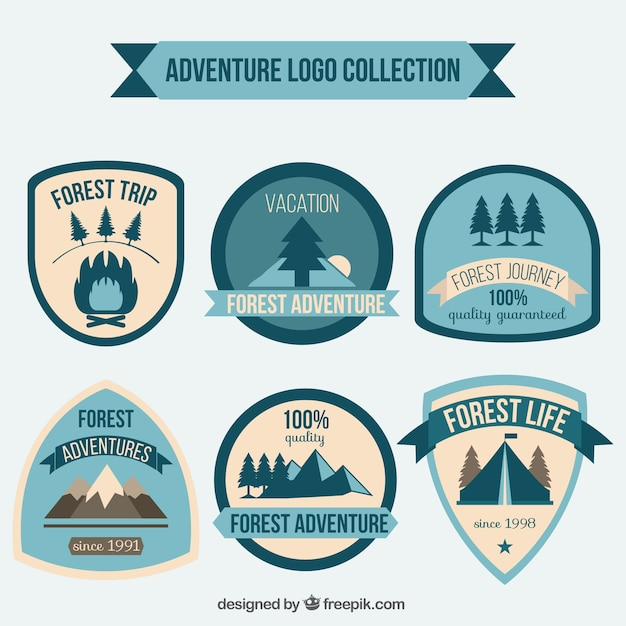 Vintage adventures badges