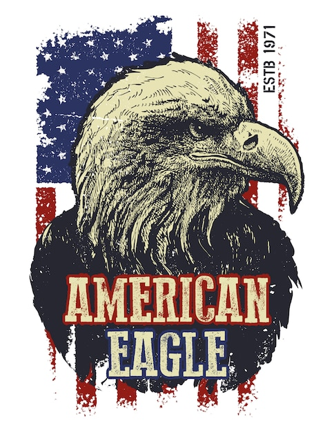 premium vector   vintage american eagle illustration  freepik
