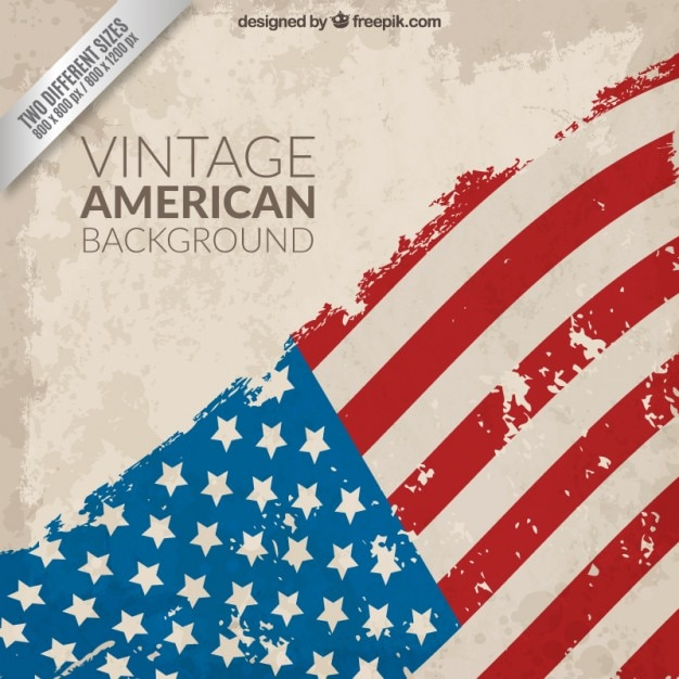 vintage american flag background vector free download