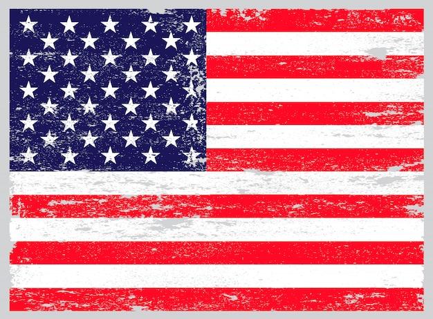 ヴィンテージアメリカ国旗 Premiumベクター