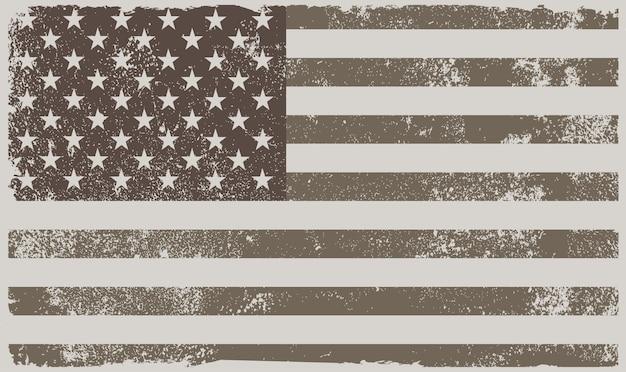 Vintage american flag Premium Vector
