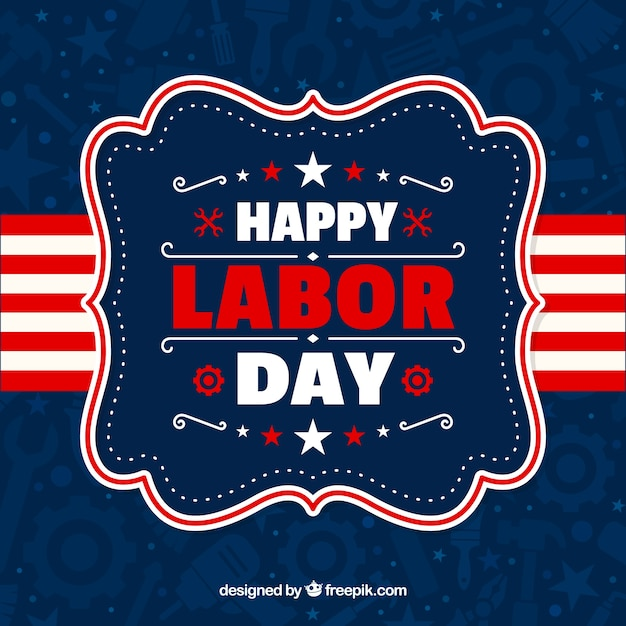 Vintage american labor day badge\ background