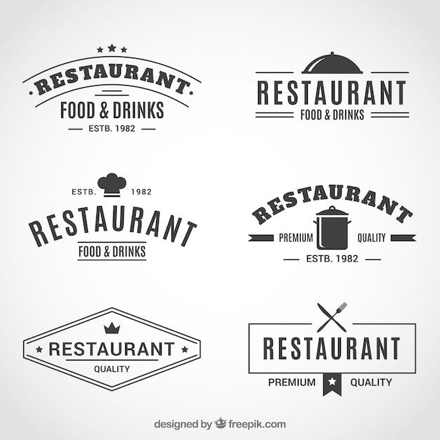 Vintage and elegant restaurant logos