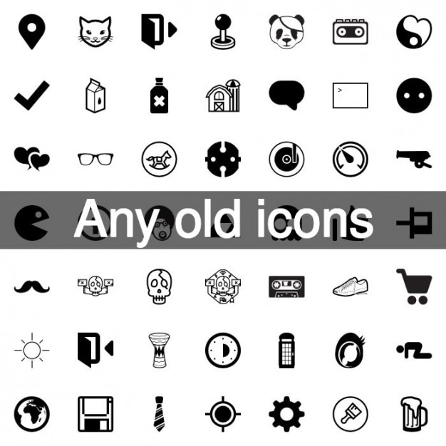 Vintage and retro icons pack