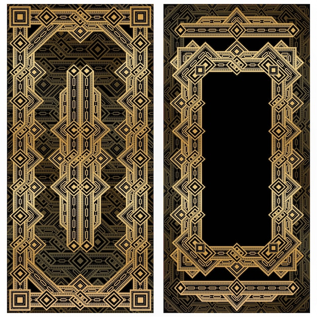 Vintage Art Deco Frame Vector Free Download