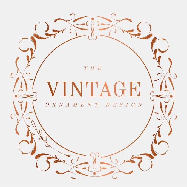 Роскошный векторный значок vintage art nouveau Бесплатные векторы