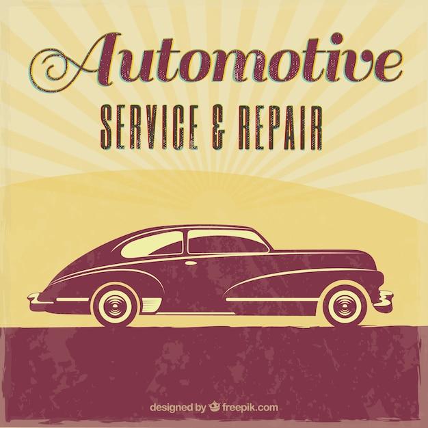Vintage auto repair retro poster