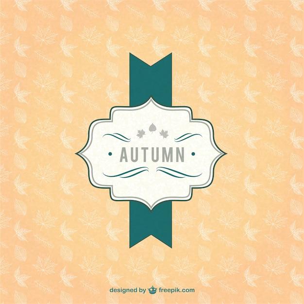 Vintage autumn label